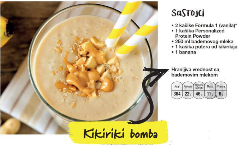 kikiriki bomba recepti pre i posle treninga